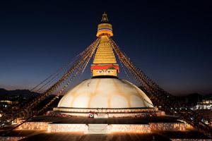 Die Stupa von Boudhnath