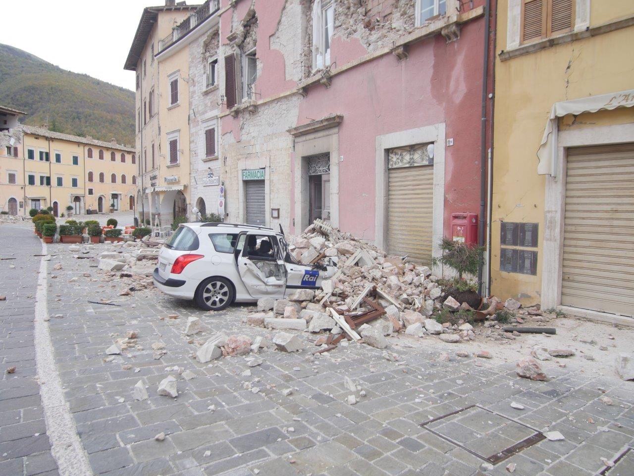 Visso after the earthquake